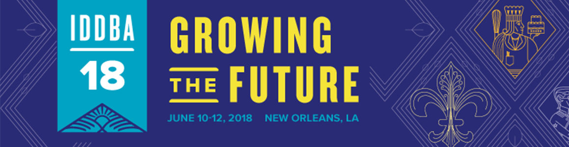 IDDBA 2018 banner of dates and location.