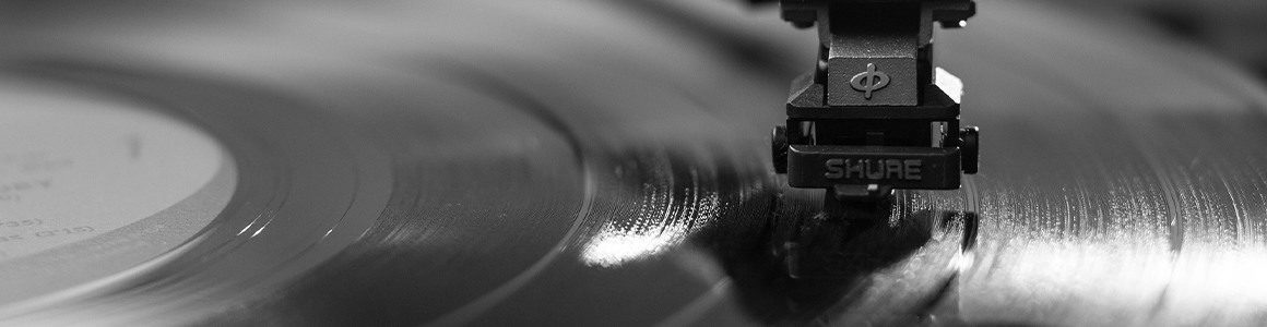 A record music player - up close.