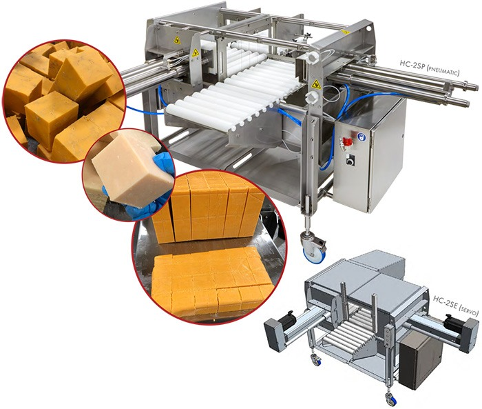 HART Design and Manufacturing Block / Two-Stage Cutters and examples of cut cheese